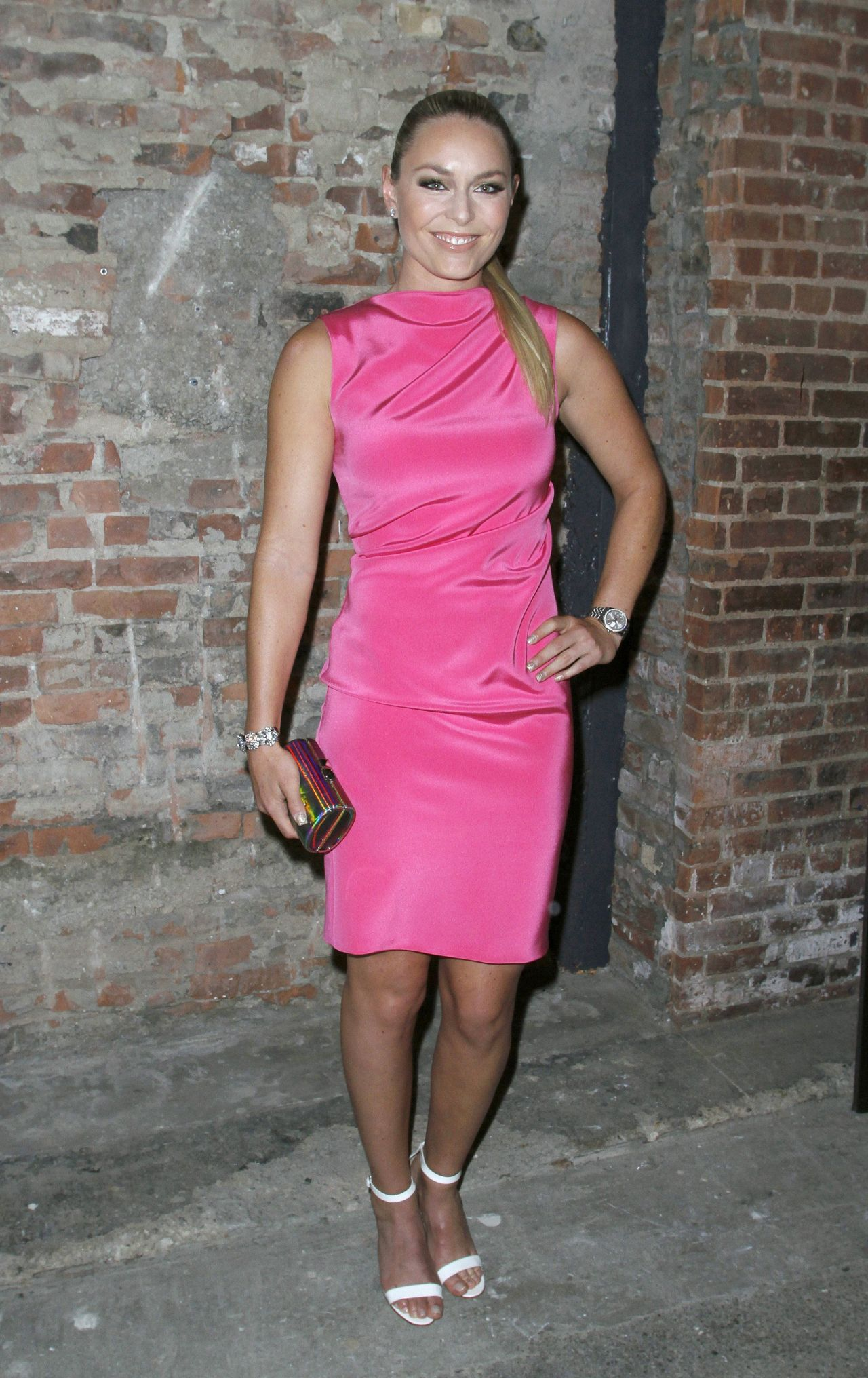 Lindsey Vonn - Backstage at Christian Siriano Show in New York City