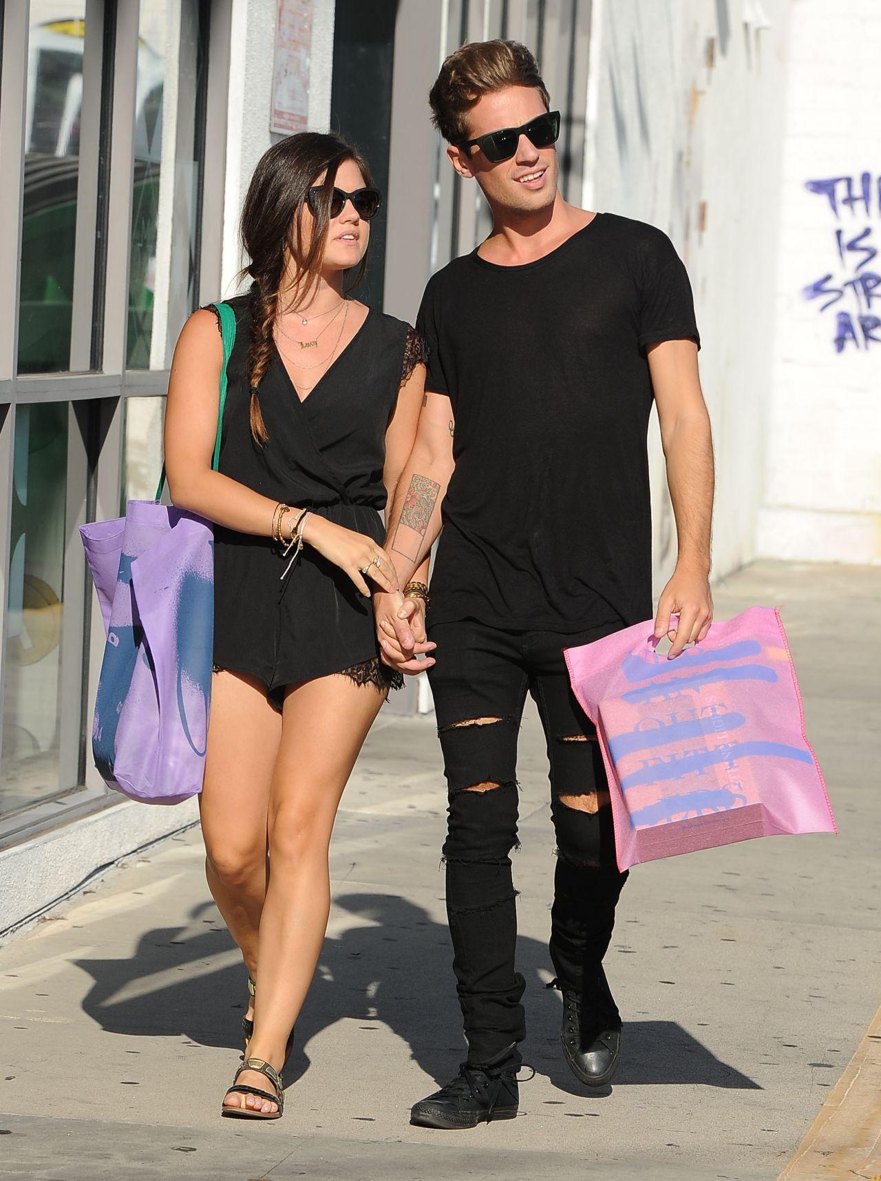 Lucy Hale & Her Boyfriend Shopping in Beverly Hills - September 2014
