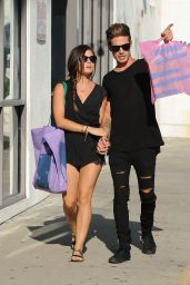 Lucy Hale & Her Boyfriend Shopping in Beverly Hills - September 2014