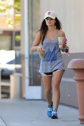 Lucy Hale Wears Short Shorts - Leaving The Coffee Bean & Tea Leaf in Los Angeles - Sept. 2014