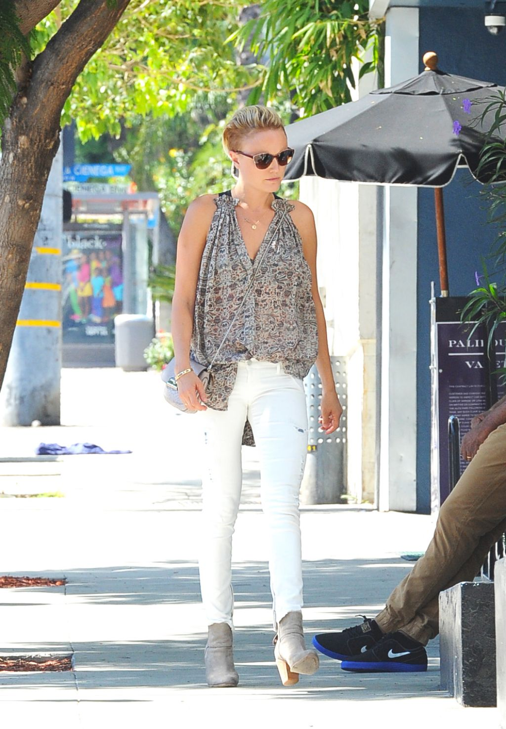 Malin Akerman Casual Style - Out in West Hollywood - September 2014