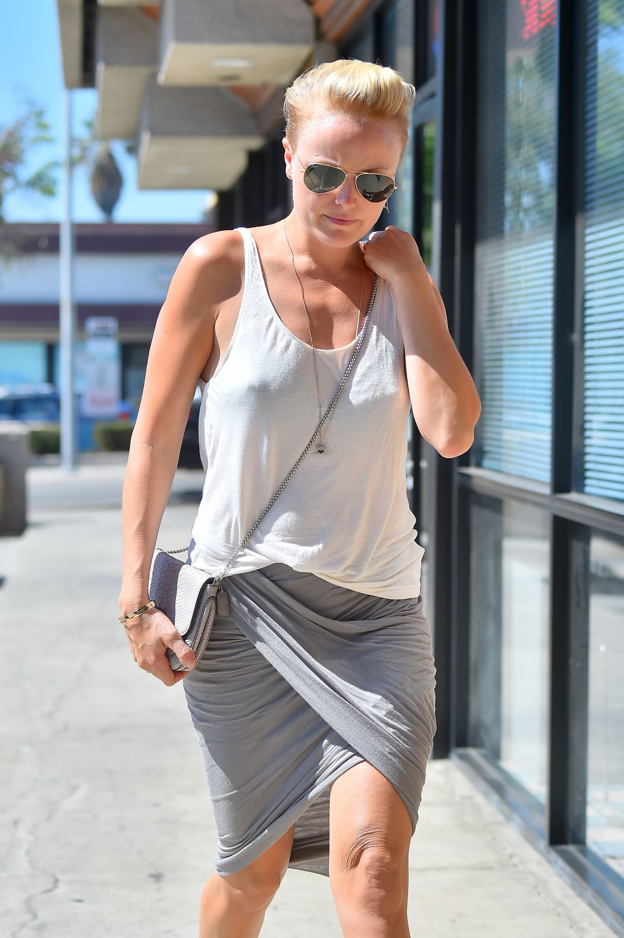 Malin Akerman Street Style - Out and about in Los Feliz - September 2014