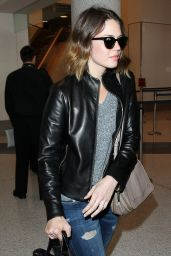 Mandy Moore in Ripped Jeans - at LAX Airport in Los Angeles - September 2014