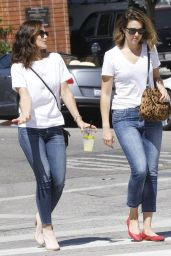 Mandy Moore & Minka Kelly Out in Los Angeles, September 2014
