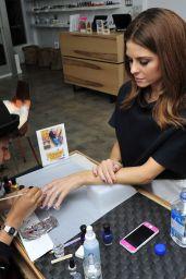 Maria Menounos - Manicure at Enamel Diction in Los Angeles, Sept. 2014