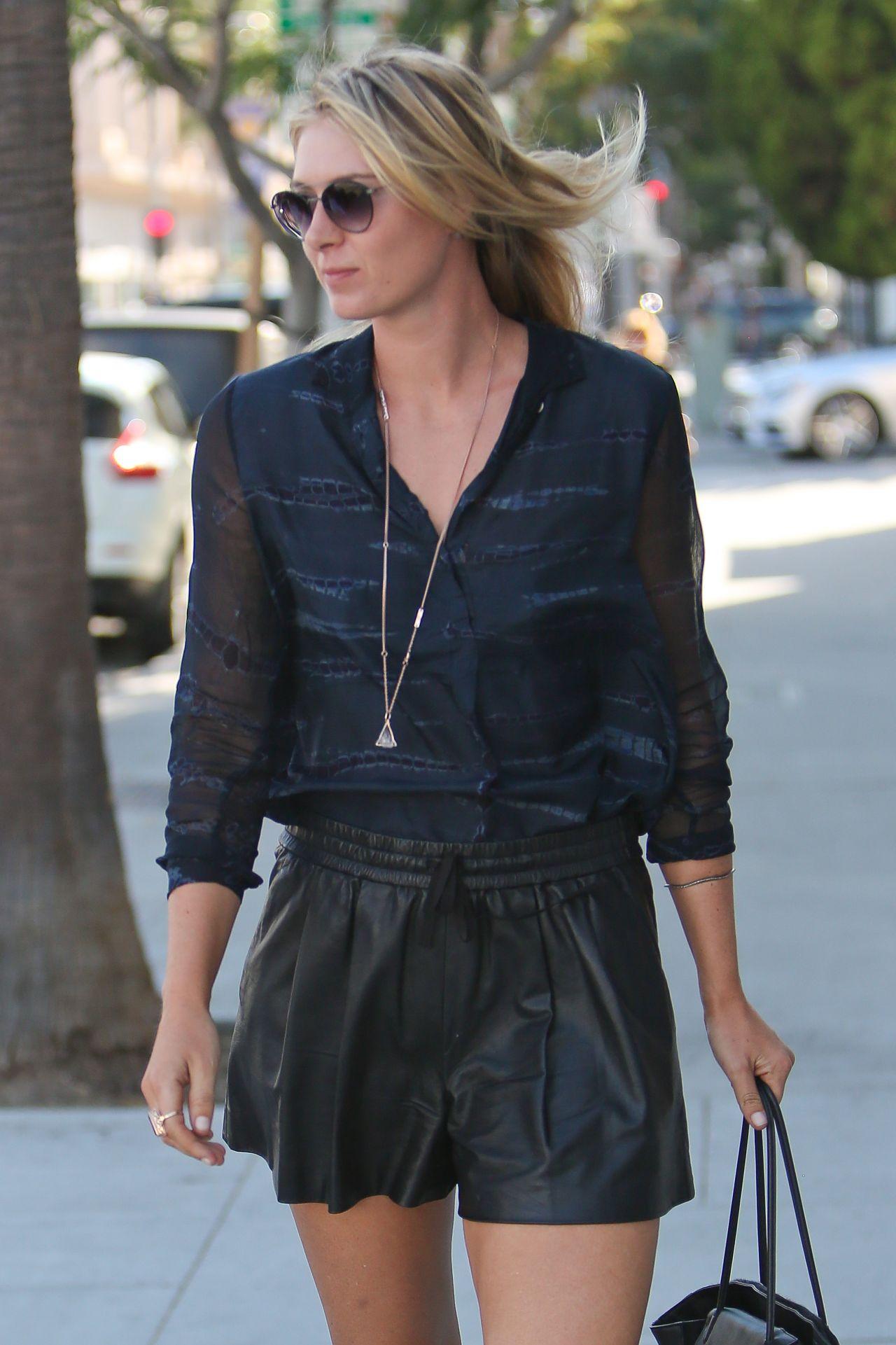Maria Sharapova - Rodeo Drive in Beverly Hills - September 2014