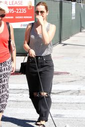 Mena Suvari Walking Her Dog - Out in Los Angeles - September 2014