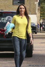 Michelle Heaton - Seen holding Bras Outside the London Studios - Sept. 2014