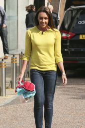 Michelle Heaton - Seen holding Bras Outside the London Studios - Sept. 2014