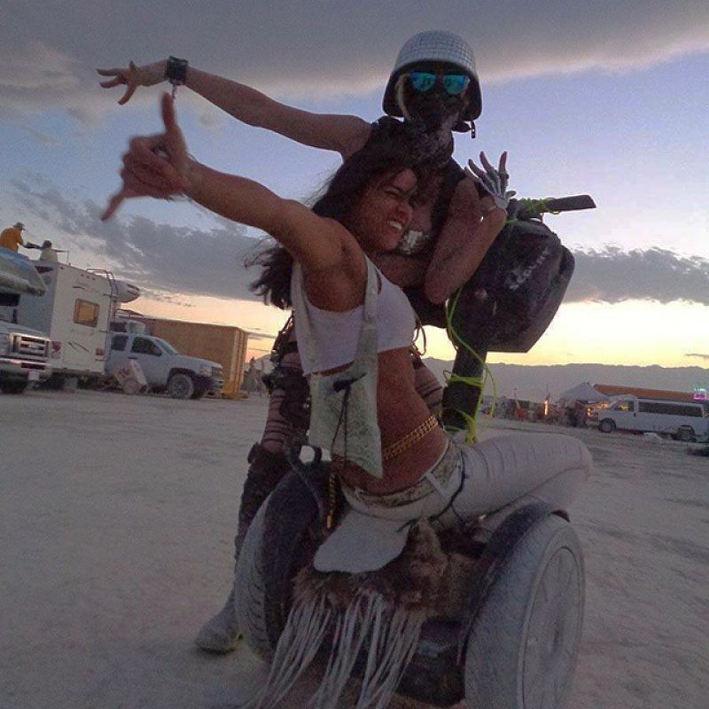 Michelle Rodriguez at The Burning Man 2014