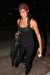 Michelle Rodriguez Night Out Style - Arrives at Madeo for Dinner in West Hollywood - Sept. 2014