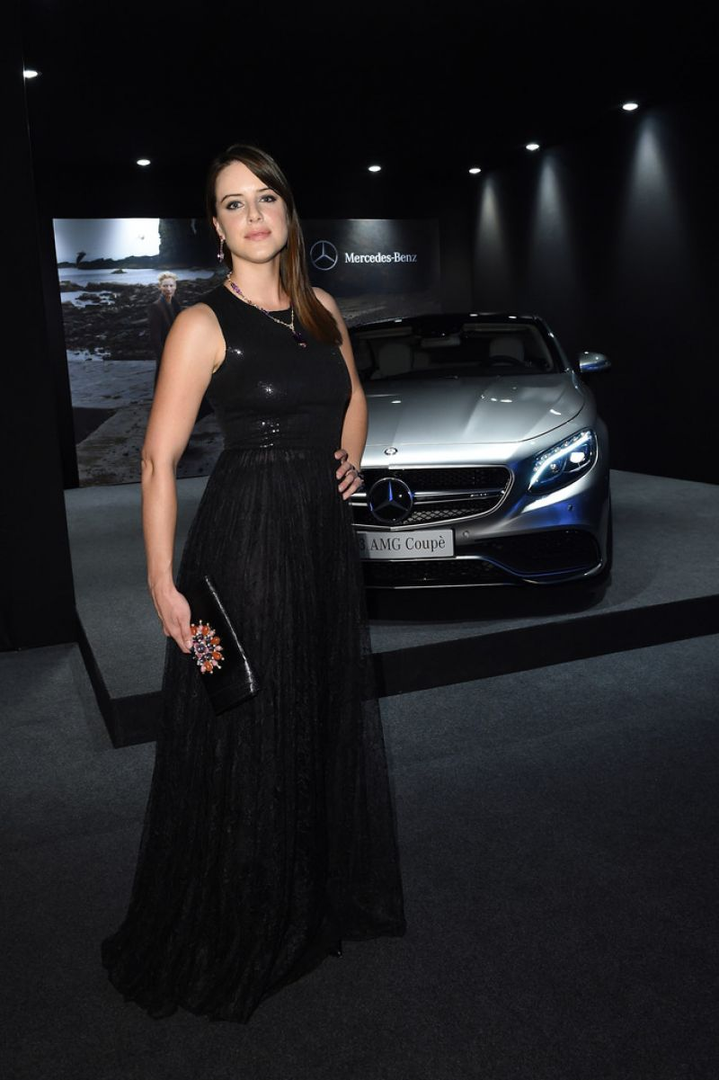 Michelle Ryan - amfAR Gala at Milan Fashion Week - September 2014