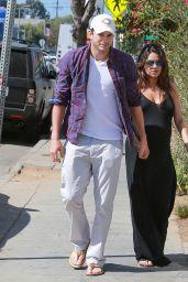 Mila Kunis & Ashton Kutcher Out in Los Angeles - September 2014
