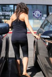 Mila Kunis Leaving a Pilate Class in Los Angeles - August 2014