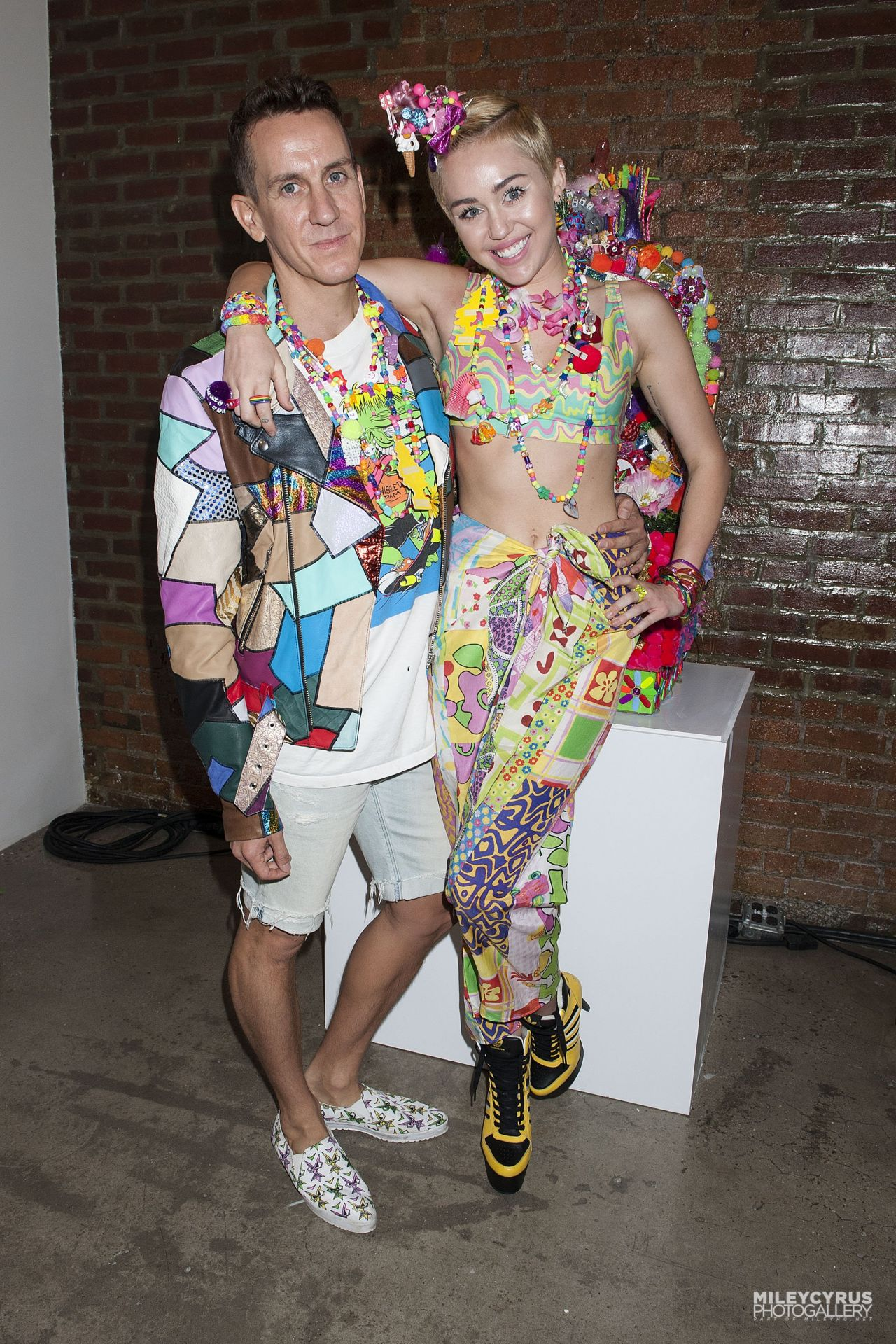 Miley Cyrus at Jeremy Scott