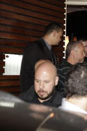 Miley Cyrus - Leaving Sushi Restaurant in Rio de Janeiro, September 2014