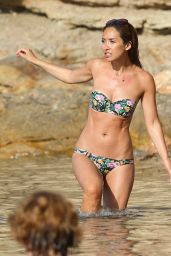 Myleene Klass Bikini Candids on a Beach in Ibiza - July 2014