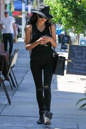 Naya Rivera - Leaving A Laser Hair Removal Center in Studio City - SEptember 2014