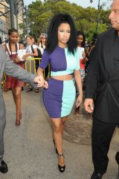 Nicki Minaj Arriving at the Alexander Wang Fashion Show in New York City - Sept. 2014