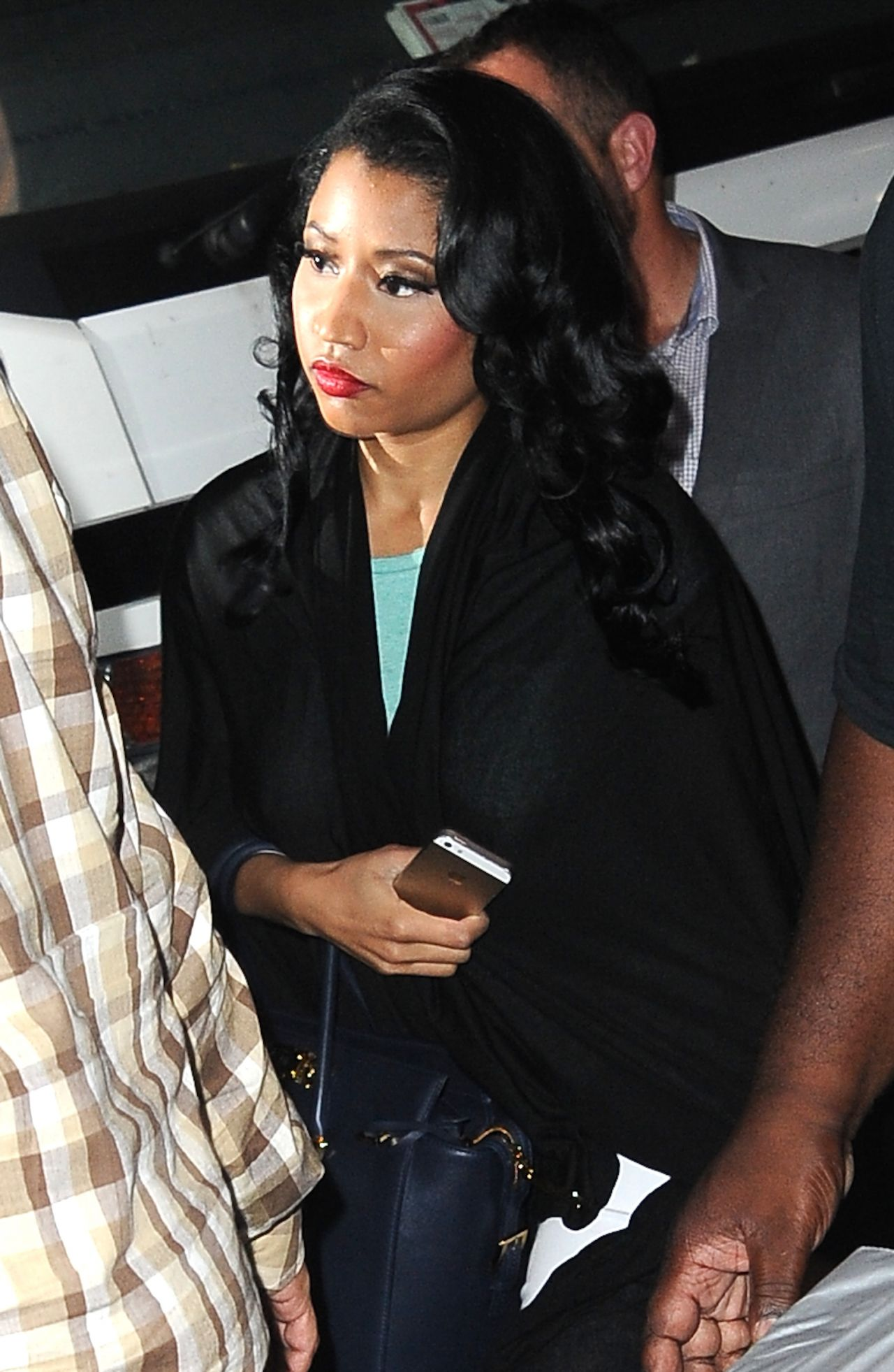 Nicki Minaj Casual Style - Arriving at a Photoshoot in NYC - September 2014