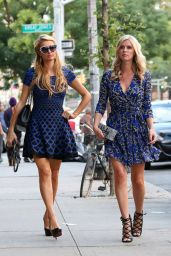 Nicky HIlton and Paris Hilton Street Style - Out in SoHo - September 2014