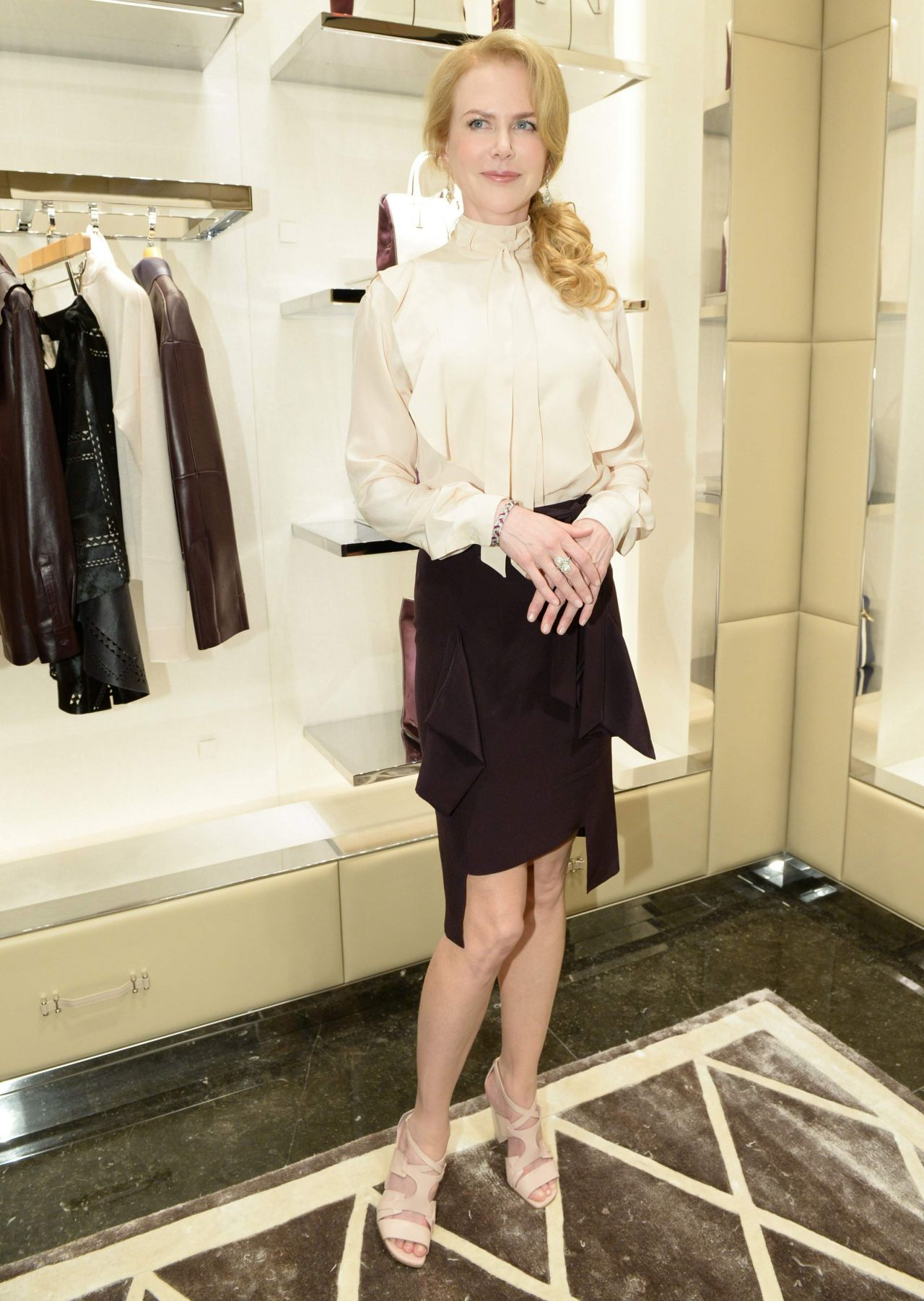 Nicole Kidman Tod S Boutique Re Opening Celebration In