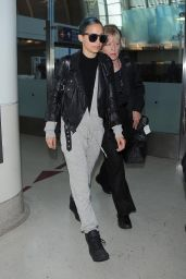 Nicole Richie Style - at LAX Airport in Los Angeles - September 2014
