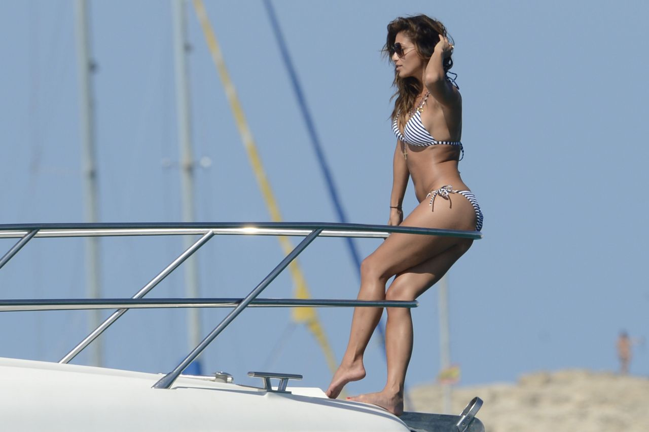 Nicole Scherzinger Bikini Candids - on a Boat in Ibiza, August 2014