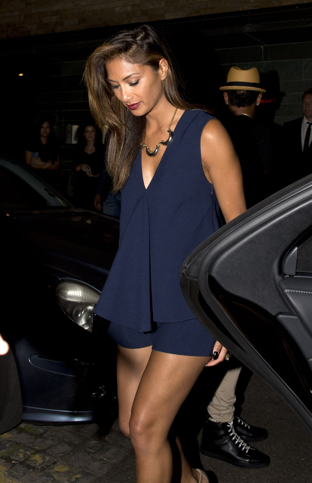 Nicole Scherzinger Night Out Style - Leaving Hakkasan Restaurant in London - September 2014