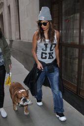 Nicole Scherzinger Spotted Dog Walking in London - September 2014