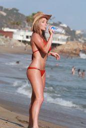 Nikki Lund Bikini Candids - Beach in Malibu, September 2014