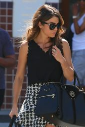 Nikki Reed in Mini Skirt - Out in Los Angeles - September 2014