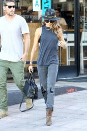Nikki Reed in Ripped Jeans - Out in Los Angeles - September 2014