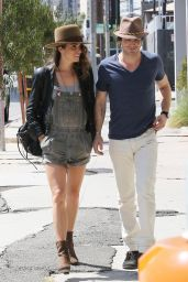 Nikki Reed Shows Off Her Legs - Out in Los Angeles - September 2014