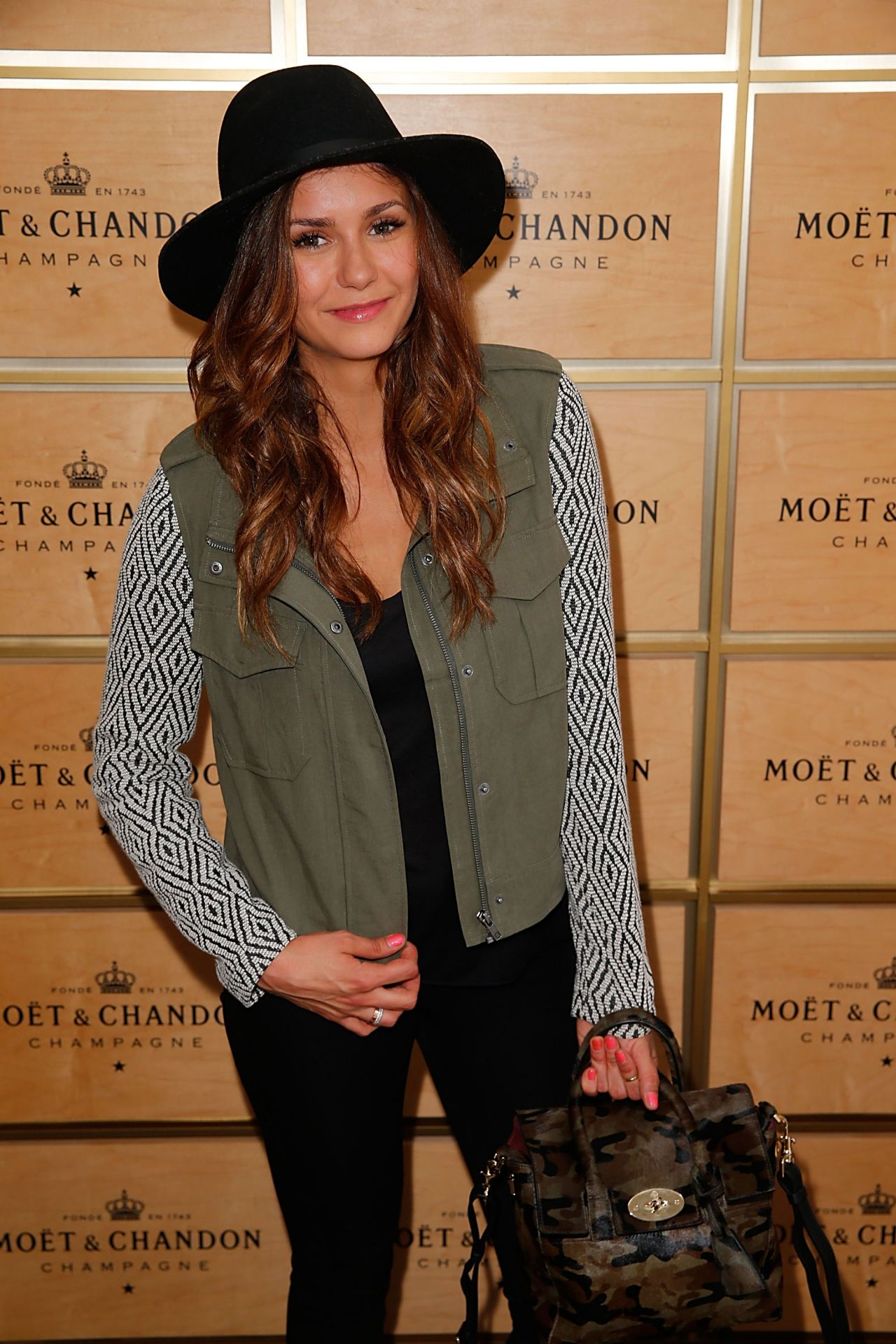 Nina Dobrev - Moet & Chandon Suite at the U.S. Open 2014