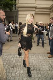 Nina Nesbitt - Outside the Julien Macdonald Show at London Fashion Week - September 2014