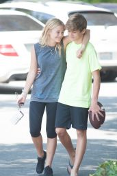 Olivia Holt in Leggings - Playing ball in Los Angeles, September 2014
