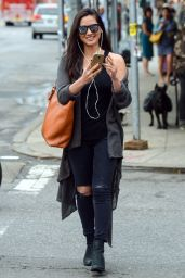 Olivia Munn Street Style - Out in New York City - September 2014