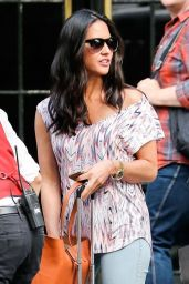 Olivia Munn Street Style - Outside the Bowery Hotel in New York City - September 2014