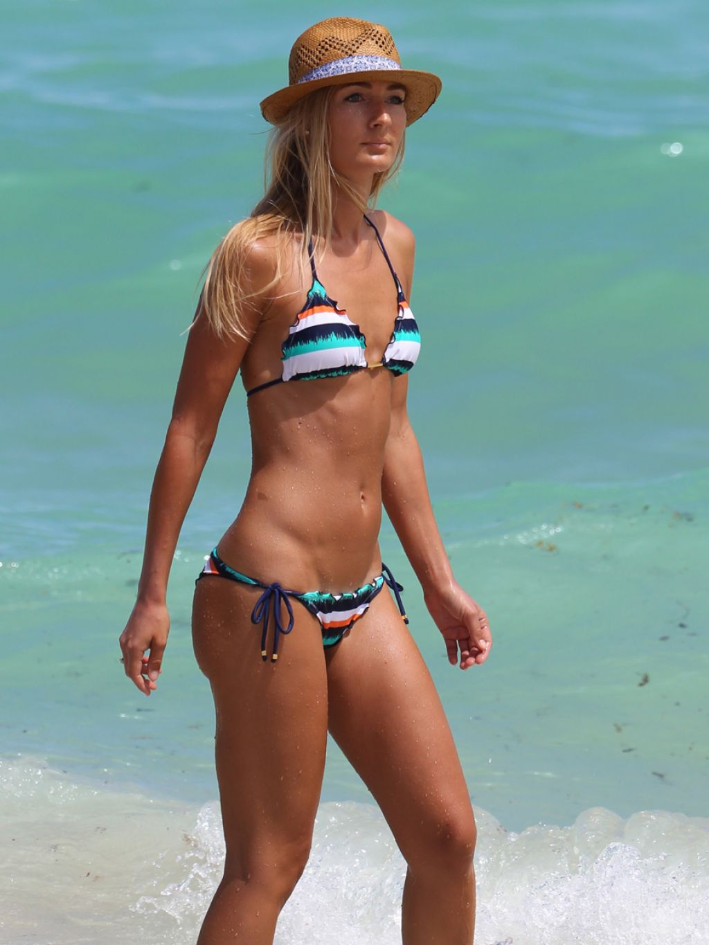 Petra Benova Bikini Candids in Miami - September 2014