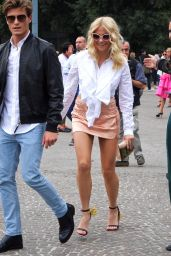 Pixie Lott Shows Pff Plenty of Leg in Mini Skirt - Out in Milan, Italy