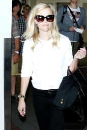 Reese Witherspoon at LAX Airport - September 2014
