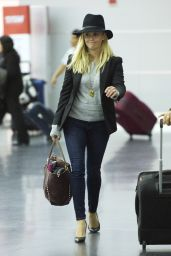 Reese Witherspoon in Jeans and Heels at JFK Airport in New York City, Sept. 2014