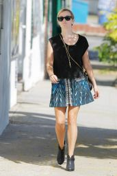 Reese Witherspoon in Mini Skirt Out in Brentwood - September 2014