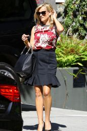 Reese Witherspoon in Mini Skirt Out in Los Angeles - September 2014