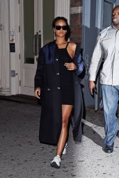 Rihanna - Arriving at a Recording Studio in New York City - September 2014