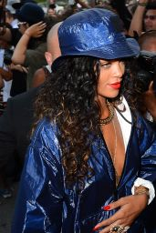 Rihanna - Arriving at Alexander Wang Fashion Show in New York City - September 2014