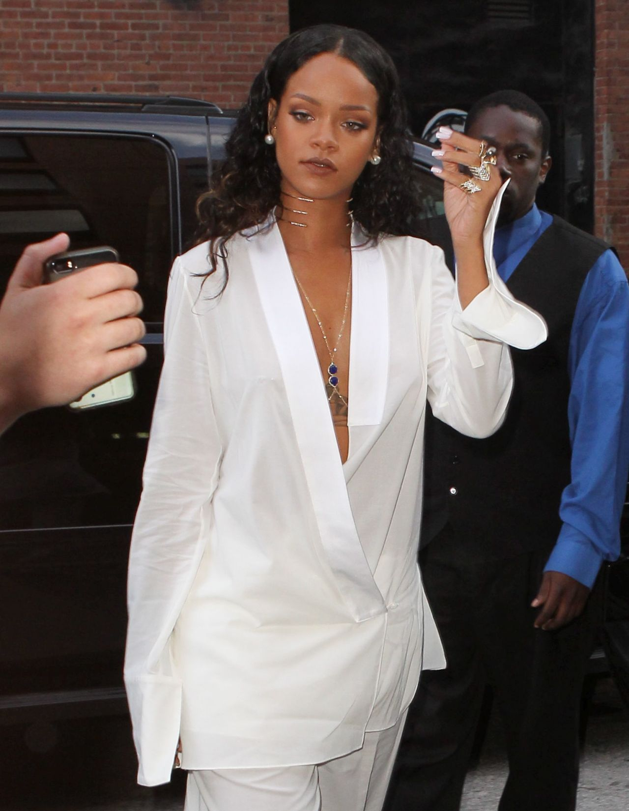 Rihanna - Arriving at Edun Fashion Show in New York City - September 2014