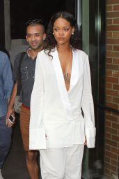 Rihanna - Arriving at Edun Fashion Show in New York City - September 2014