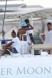 Rihanna Bikini Candids - on a Yacht in Barbados, Sept. 2014